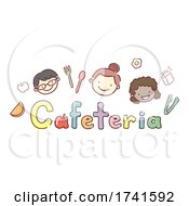 Stickman Kids School Cafeteria Illustration