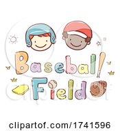 Stickman Kids School Baseball Field Illustration