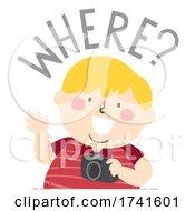 Kid Boy Journalism Question Where Illustration