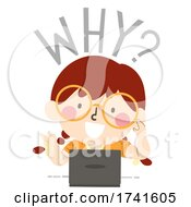 Poster, Art Print Of Kid Girl Journalism Question Why Illustration