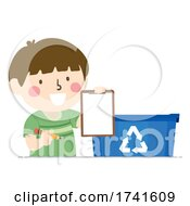 Kid Boy Recycle Bin List Illustration