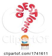 Kid Boy Student Question Mark Illustration