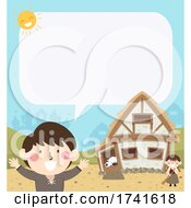 04/15/2021 - Kid Boy Peasant Speech Bubble Illustration