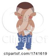 Kid Boy Put On Pants Illustration