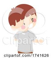 Kid Boy Wear Shirt On Backwards Illustration