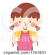 04/15/2021 - Kid Girl Wear Apron Cooking Illustration