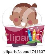 04/15/2021 - Toddler Girl Learn Color Story Book Illustration