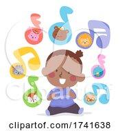 Kid Toddler Black Girl Learn Skills Music Animals