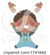 04/15/2021 - Kid Toddler Boy Black Gesture Arms Raise Pick Me