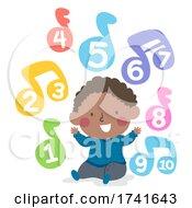 04/15/2021 - Kid Toddler Boy Black Learn Skills Music Numbers