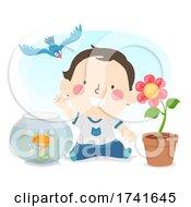 04/15/2021 - Kid Toddler Boy Explore Living Things Illustration