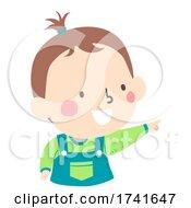 04/15/2021 - Kid Toddler Boy Gesture Index Finger Point