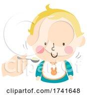 Kid Toddler Boy Gesture Nod Head Yes Illustration