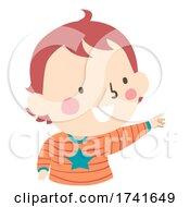 Kid Toddler Boy Gesture Open Hand Point