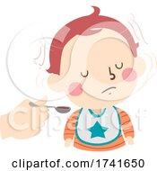 04/15/2021 - Kid Toddler Boy Gesture Shake Head No Illustration