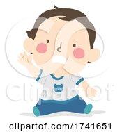 04/15/2021 - Kid Toddler Boy Gesture Wait Illustration