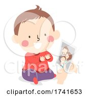Kid Toddler Identify Family Member Illustration