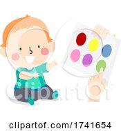 Kid Toddler Boy Learn Colors Paper Illustration