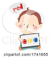 Kid Toddler Boy Learn Color Tablet Illustration