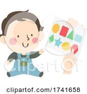 04/15/2021 - Kid Toddler Boy Learn Shapes Paper Illustration