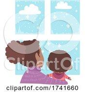 04/15/2021 - Kid Toddler Boy Mom Observe Weather Winter
