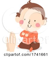 04/15/2021 - Kid Toddler Gesture Clapping Hands Illustration