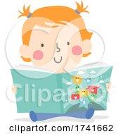 04/15/2021 - Kid Toddler Girl Shapes Story Book Illustration