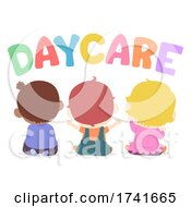 04/15/2021 - Kids Toddlers Daycare Back View Illustration