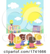 Poster, Art Print Of Kids Toddlers Daycare Season Back View