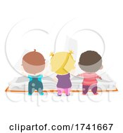 04/15/2021 - Kids Toddlers Explore Book Back View Illustration