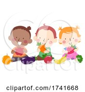 Kids Toddlers Explore Fruits Vegetables