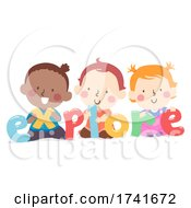 04/16/2021 - Kids Toddlers Playing Explore Word Illustration