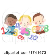 04/16/2021 - Kids Toddlers Play Numbers Illustration