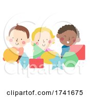 04/16/2021 - Kids Toddlers Play Shapes Illustration