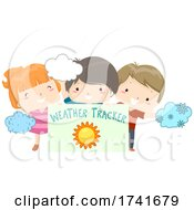 Poster, Art Print Of Kids Board Weather Tracker Sunny Illustration