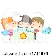 04/16/2021 - Kids Board Weather Tracker Sunny Illustration