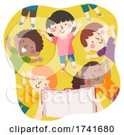 04/15/2021 - Kids Book Story Lay Down Read Book Illustration