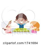 04/15/2021 - Kids Boy Happy Win Board Game Illustration
