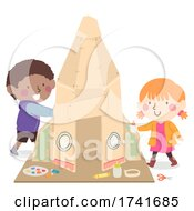 04/15/2021 - Kids Build Card Board Rocket Supplies Illustration