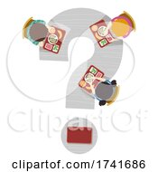 Kids Cafeteria Lunch Question Mark Illustration