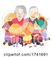 04/16/2021 - Kids Grand Parents Senior Man Woman Illustration
