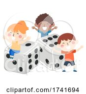 04/16/2021 - Kids Happy Dice Board Game Illustration