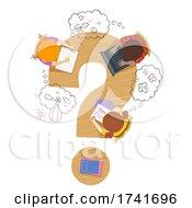 Poster, Art Print Of Kids Imagination Thinking Clouds Illustration