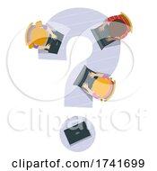 Poster, Art Print Of Kids Laptop Question Mark Illustration