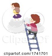 Kids Maze Cloud Ladder Pipes Illustration