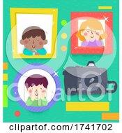 Kids Photography Frame Camera Smiling Illustration