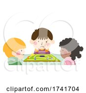 04/16/2021 - Kids Playing Board Game Bored Illustration