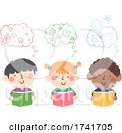 04/16/2021 - Kids Read Book Imagination Illustration
