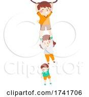 04/16/2021 - Kids Siblings Cling Bar Illustration