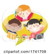 04/16/2021 - Kids Speech Bubble Study Laptop Books Illustration